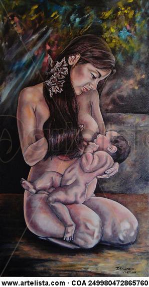 Supermaternidad Canvas Oil Nude Paintings