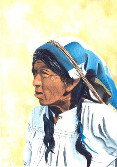 India Paez Lienzo Óleo Retrato