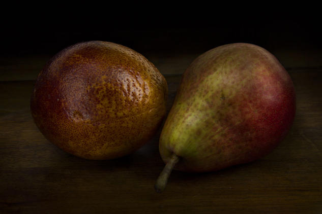 Pera y naranja Color (Digital) Bodegones