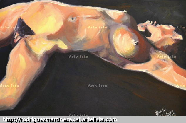 Torso Card Oil Nude Paintings