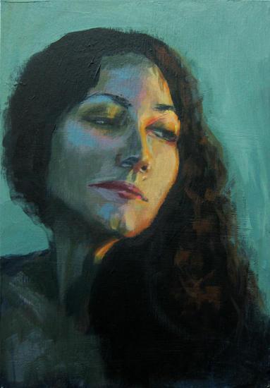 María Tabla Óleo Retrato