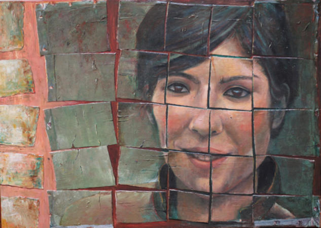 Ana Belén Retrato Acrílico Tabla