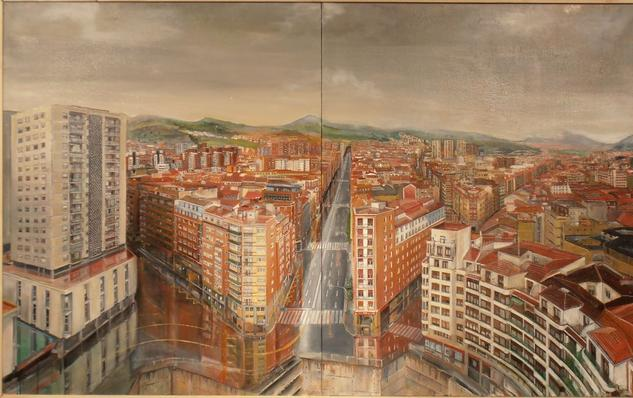 Bilbao desde la torre de Zabálburu