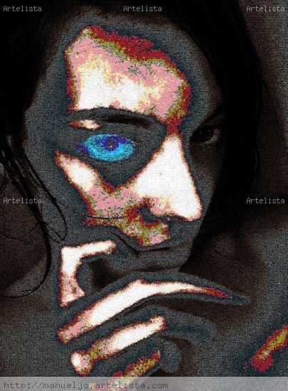 jazz woman in blue eyes