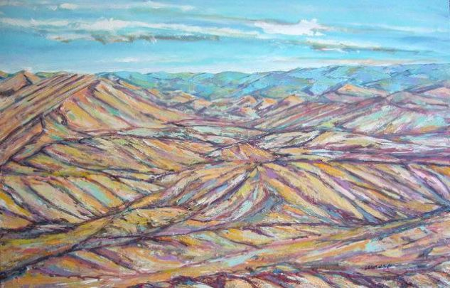Desierto de Tabernas (Almería) Óleo Lienzo Paisaje