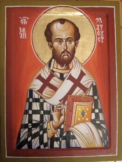 St. John Chrysostom 50 x 37 cm egg tempera on wood