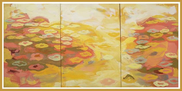 Carta a Monet Landscaping Oil Textile