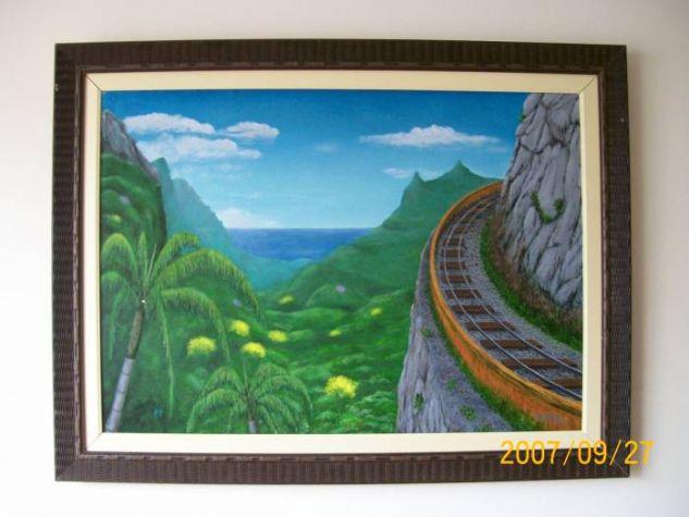 j07029 linha férrea na montanha