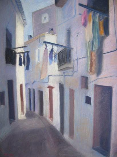 Ibiza Papel Pastel Paisaje