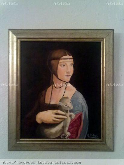 Dama del armiño (copia) Lienzo Óleo Retrato
