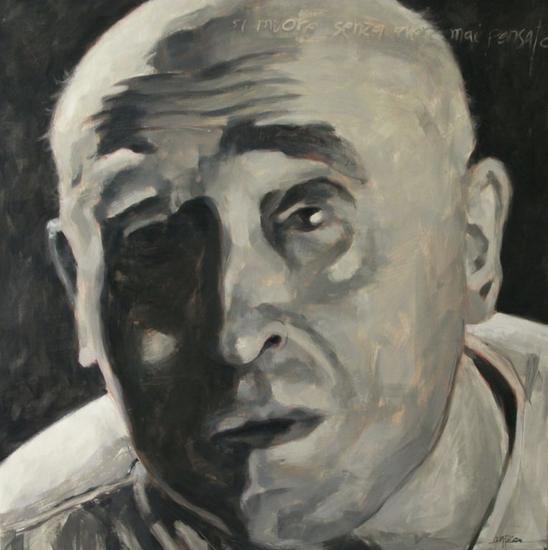Cesare Zavattini Lienzo Óleo Retrato