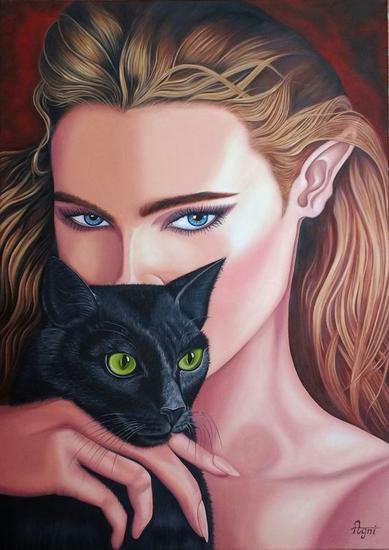 Looks Canvas Oil Figure Painting