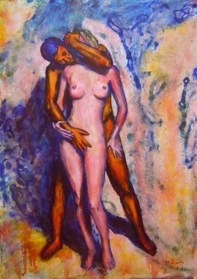 Eros 4 Desnudos Acrílico Tabla