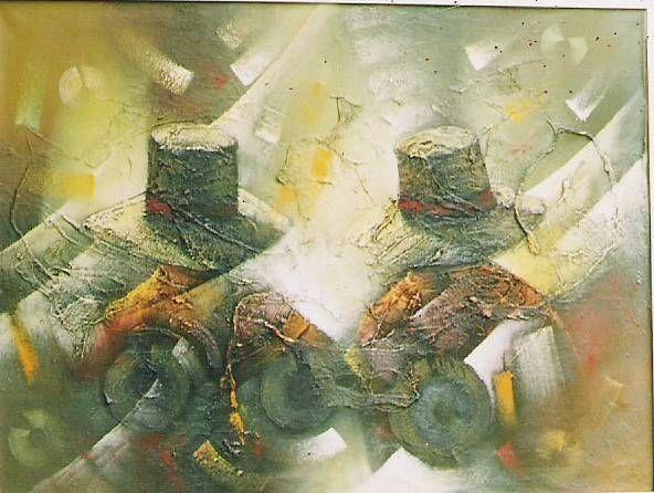 sombrero Óleo Lienzo Figura