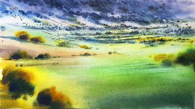 color en el paisaje aragones Landscaping Watercolour Paper