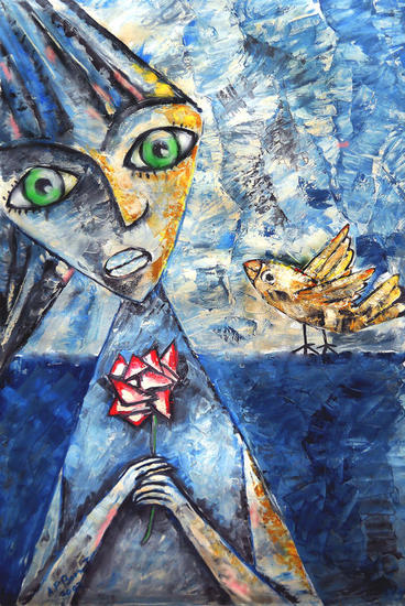 la flor y el ave
