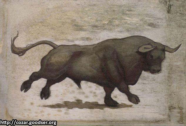 Toro 3 Lápiz (Negro) Tabla Animales