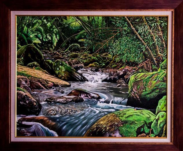 QUEBRADA MESITAS DEL COLEGIO - COLOMBIA Landscaping Oil Canvas