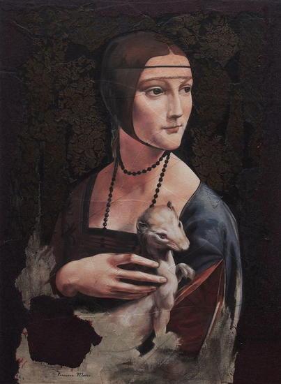 ALEGORIA V Figure Painting Oil Panel