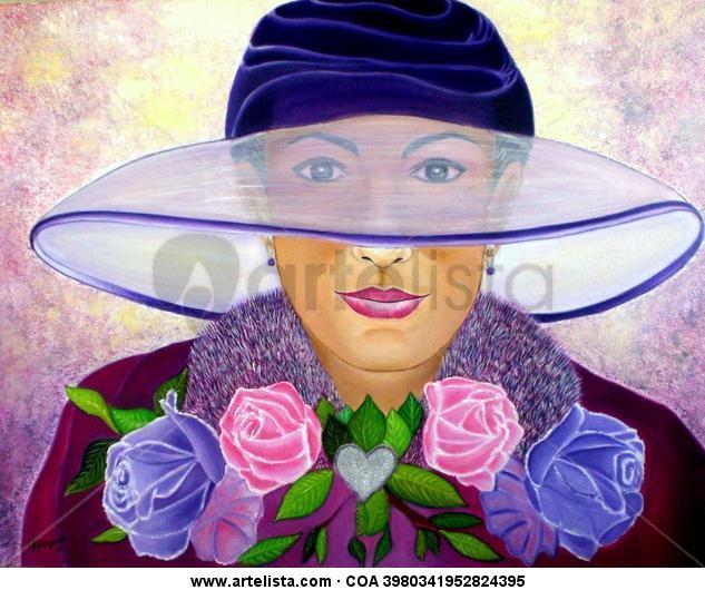 la dama del sombrero