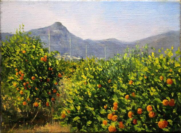 Montaña de Pipa Paisaje Óleo Lienzo