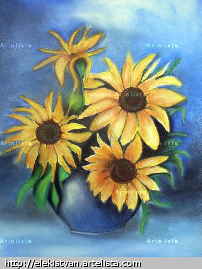 Sunflower Floral Pastel Papel