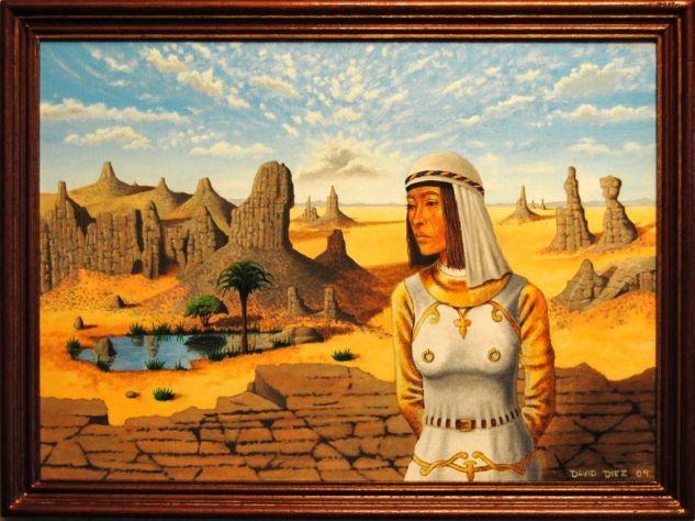 Desierto con figura Óleo Tabla Paisaje