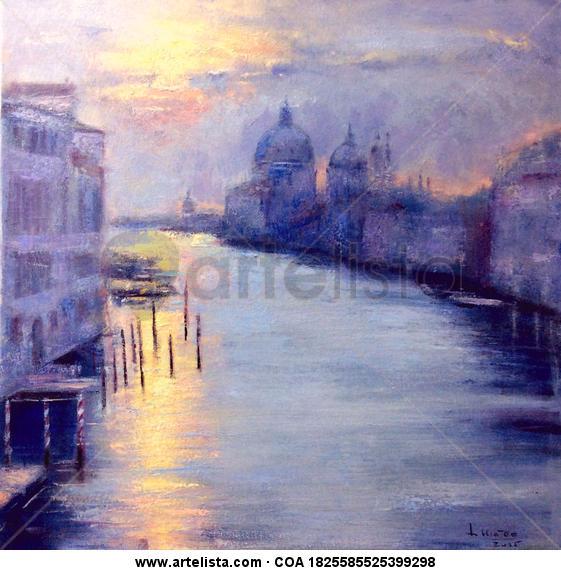 Amanece en Venecia Lienzo Óleo Paisaje