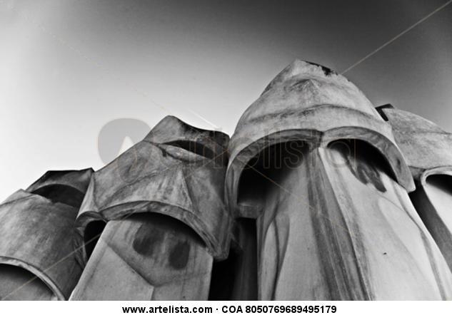 La Pedrera II Black and White (Digital) Architecture and Interiorism