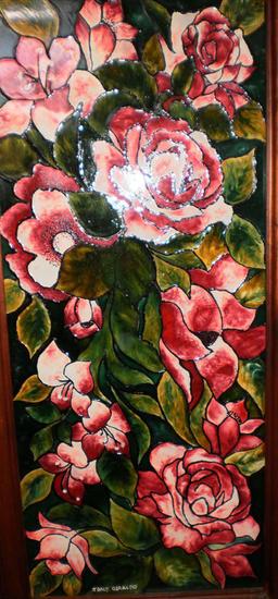 Roses Cristal De vidriera Floral