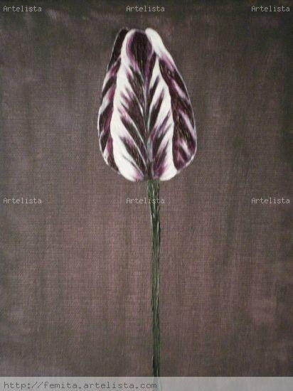 Tulipan Lienzo Óleo Floral