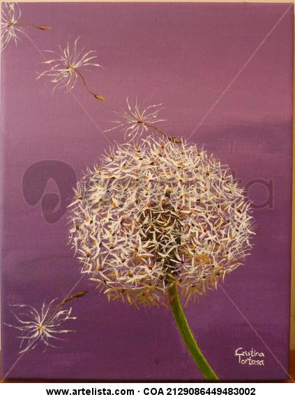 Pom-pom1 Lienzo Acrílico Floral