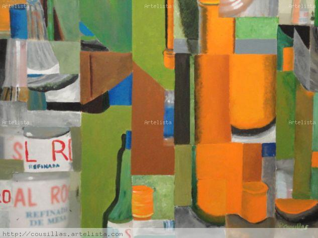 bodegon con azafran Acrylic Canvas Still Life Paintings