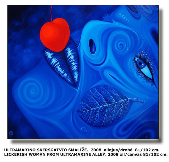 Likerish woman from Ultramarine alley. Lienzo Óleo Otros