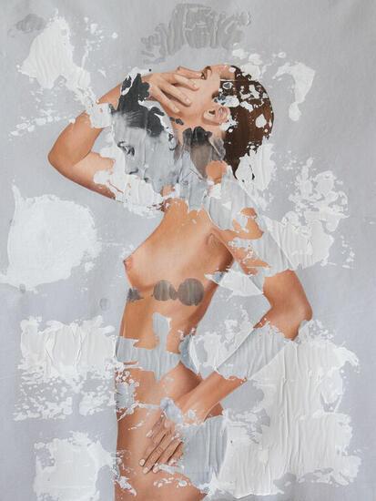 Silentium Nude Paintings Mixed media Canvas