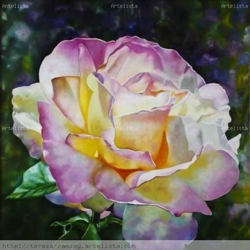 La Hermosura de la Rosa Lienzo Óleo Floral