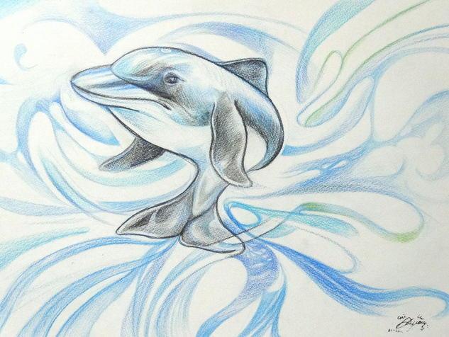 Delfín azuk Lápiz