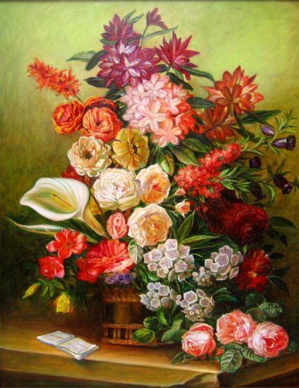 El Florero Óleo Lienzo Floral