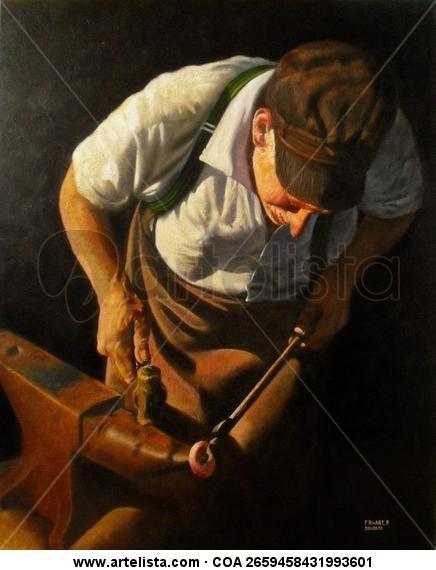 Un Forjador - 2011-01-12/Oli 64 Fr Canvas Oil Figure Painting
