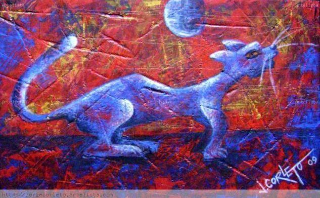 GATO AZUL Animals Panel Acrylic