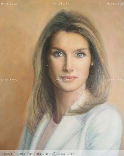 S.A.R. La Princesa de Asturias Óleo Lienzo Retrato