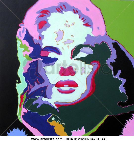 Marilyn Monroe II Acrílico Figura Lienzo