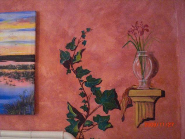 Pintura decorativa sobre pared interior asi vi ana maria dolores de guaditoca de san jos y de - Pinturas decorativas paredes ...