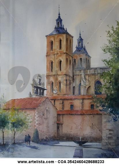 Astorga monumental Papel Acuarela Otros