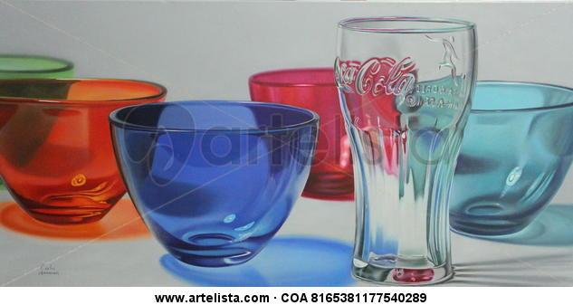 Coca-Colors Lienzo Óleo Bodegones