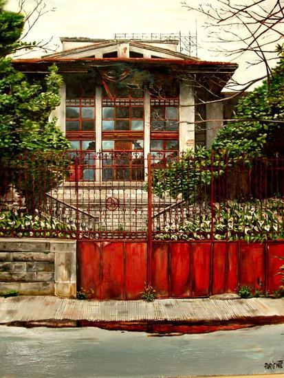Casa de Indianos, Artziniega Canvas Oil Landscaping