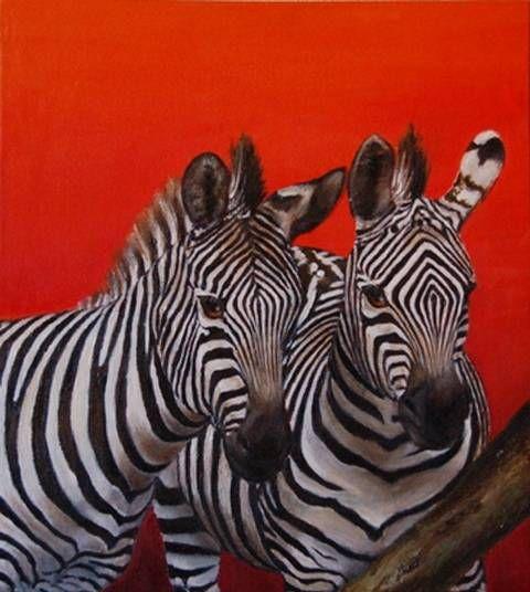 Cebras m ngeles eris - Cuadros de cebras ...