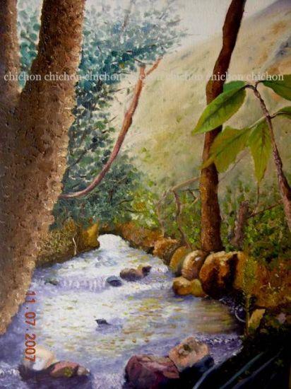 Camino de agua /Water way/façon dont l'eau/Wasserweg Óleo Lienzo Paisaje