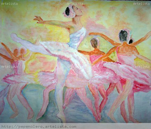 Ballet- El lago de los cisnes Acrílico Lienzo Figura