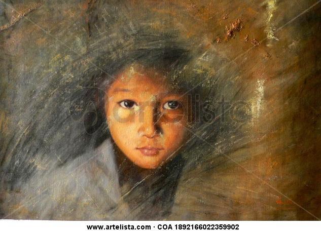 oil painting -portrait of boy Retrato Óleo Lienzo